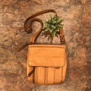 Fossil crossbody leather purse